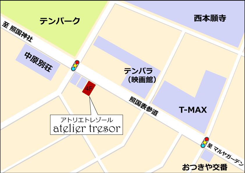 トレゾール地図